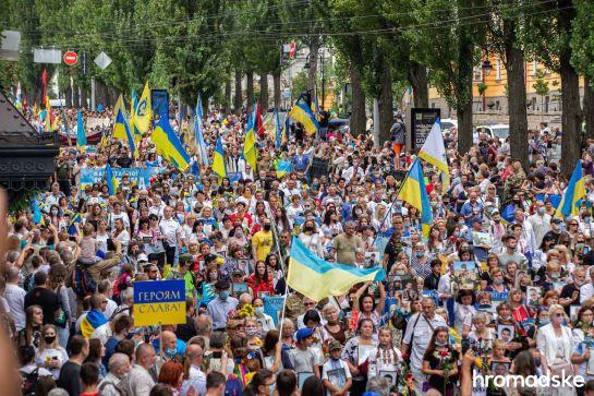 Наймасовішою подією святкувань Дня Незалежності став Марш захисників із 48 колон