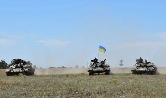 Сили ООС на південному напрямку відпрацьовують бойову взаємодію танкістів і десантників