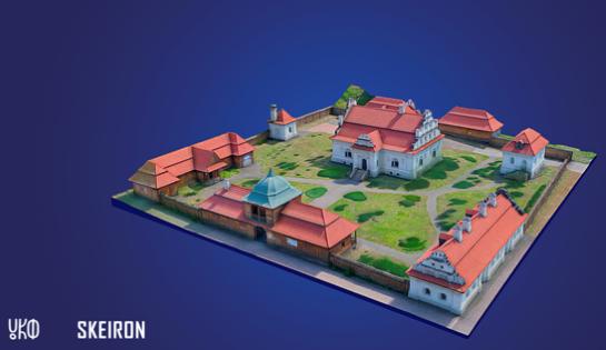 Резиденція Богдана Хмельницького… в кишені туриста: 3D-модель на листівках доповненої реальності