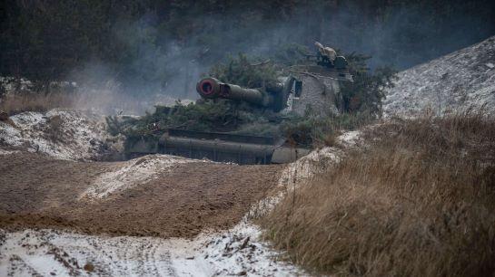 """Самохідні артустановки бригади """"Холодний яр"""" готові завдати потужний удар по ворогу"""