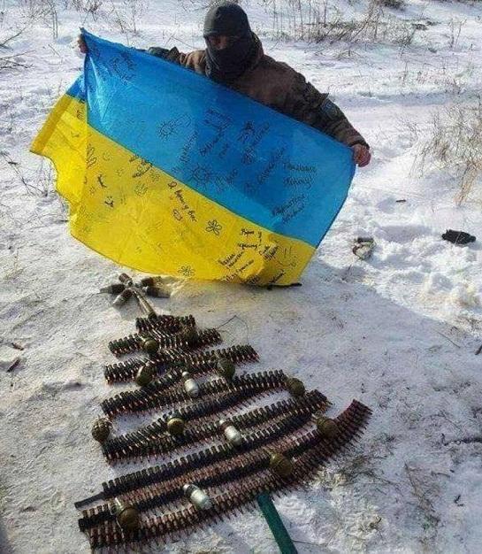 Започатковано новорічний флешмоб на підтримку українських військових на Донбасі