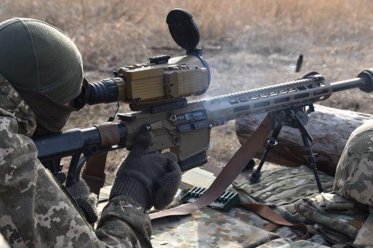 Снайпери ООС провели бойові тренування на Луганщині