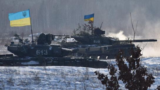 Танки Сіверської бригади ЗСУ тренуються нищити ворога