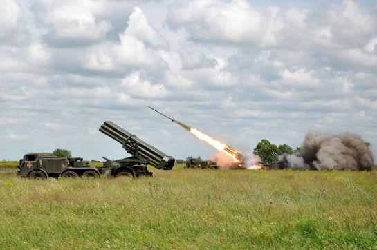 Морська піхота успішно відпрацювала нанесення вогневого удару реактивною артилерією