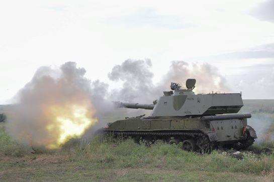 Готові нищити ворога: у зоні проведення ООС змагалися за звання кращих артилеристів